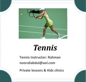 Tennis Instructor Rahman