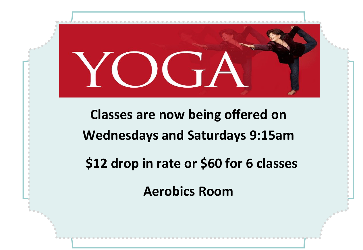 Yoga Classes Wenesdays & Saturdays